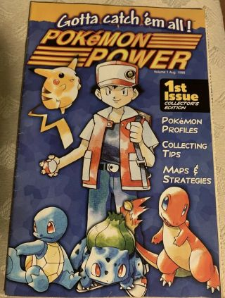 Pokemon Power 1st Issue - Collector's Edition From Nintendo Vol 1 Issue 1 1998
