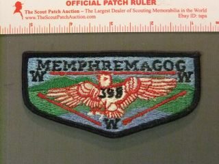 Boy Scout Oa 398 Memphremagog First Solid Flap 4419jj