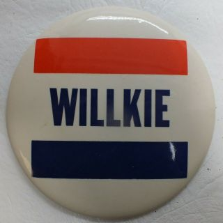 Wendell Willkie 1940 Political Campaign 6  Button Rare Mh973
