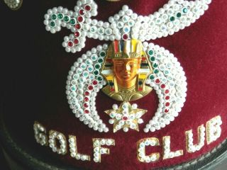 "Vintage Shriners Oasis "" Golf Club "" Fez Hat Embroidered 1970's"