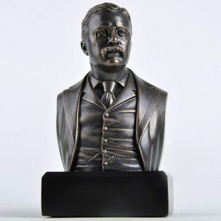 President Theodore Roosevelt Historical Bust Collectible Statue Sculpture