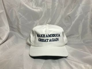 Cali - Fame Official Maga Hat White Navy Lettering.  Rare