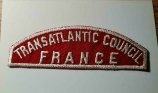 Boy Scouts Red And White Rws Shoulder Transatlantic Council France Patch 5