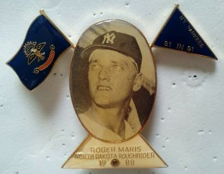 Lions Club Pin - Hall Of Fame Roger Maris,  Ny Yankees