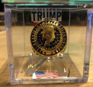 2016 Donald Trump 45th President Of The United States Maga Ring In Display Box