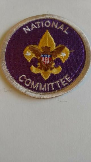 Bsa Position Patch,  National Committee,  1973 - 80,  Tenderfoot Emblem,  Purple Twill
