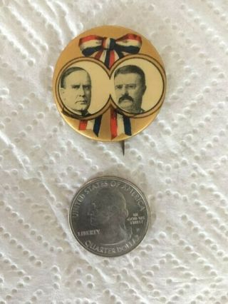 Rare William Mckinley/hobart Presidential Campaign Pin - Whitehead & Hoag