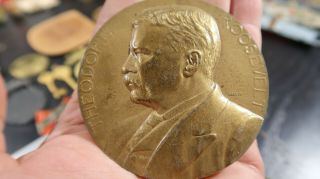 Theodore Roosevelt Teddy Inaugurated President Medal 1901 1905