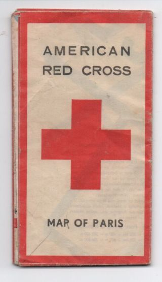1940s American Red Cross Map Of Paris France