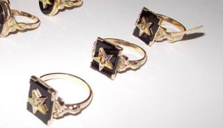 Oes Square Blk Onyx 10k Gold Filled Shank Ring 3,  4,  5,  6,  6.  5,  7,  8,  9,  9.  5,  10,  11,  1/2