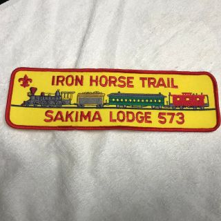 Iron Horse Trail Oa Lodge 573 Sakima Lodge Lasalle Council Jacket Back Patch