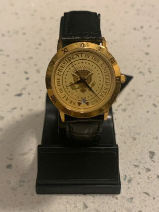 Us Presidential Seal Wrist Watch Witch Presidential Seal Case