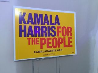 Kamala Harris Yard Sign President 2020 For The People With Stake