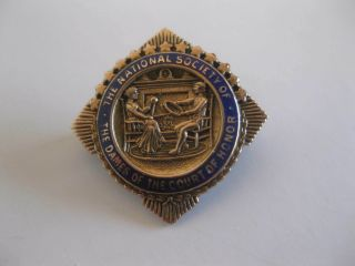 Vintage The National Society Of The Dames Of The Court Of Honor Pin 10k