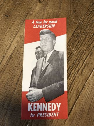 1960 Kennedy For President Civil Rights Pamphlet