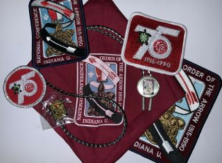 1990 National Order Of The Arrow Conference Set,  Oa 75th Anniversary Noac