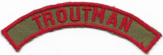 Troutman Community Strip 1946 - 1953 Khaki And Red Krs Boy Scouts Of America