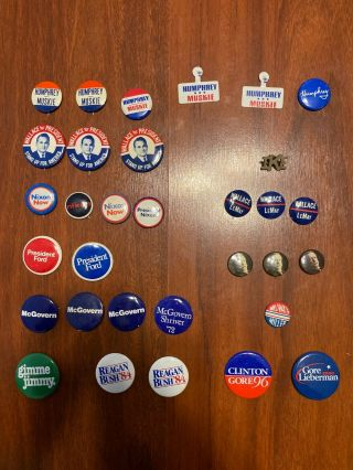 Vintage Presidential Campaign Pins/buttons