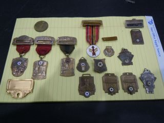 American Legion 40/8 Medal And Badge Group 1930s