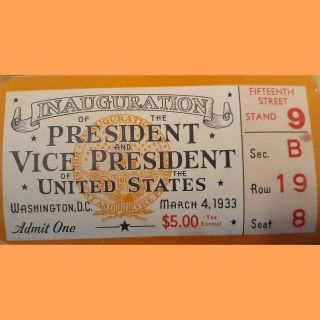 March 4,  1933 Inauguration Of The President And Vice President Of The United.