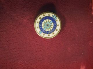 Daughters Of The American Revolution Dar Enameled Sterling Pin 119918