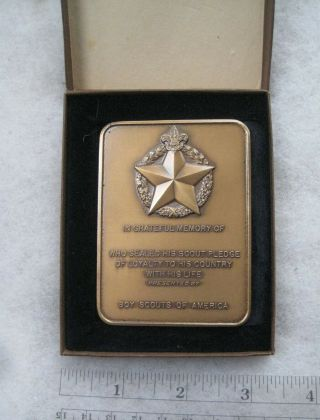 Boy Scout World War Ii And Korea War Plaque For Scouts Who Lost Life In War