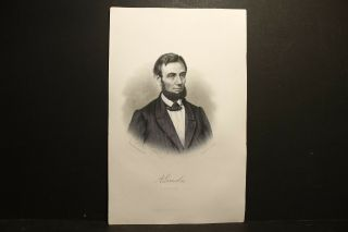 Abraham Lincoln,  Engraving 1866
