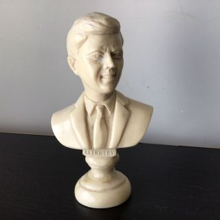 J.  F.  Kennedy Small Marble Like Bust Made In Italy 206