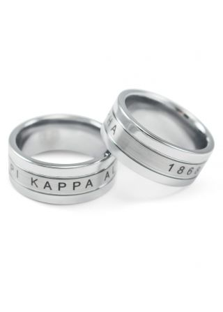 Pi Kappa Alpha Tungsten Ring With Brush Finish