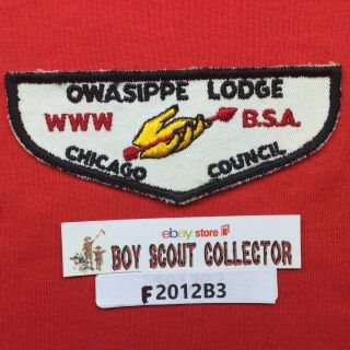 Boy Scout Oa Owasippe Lodge 7 F1 Chicago Order Of The Arrow Flap Patch