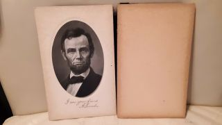 Souvenir Abraham Abe Lincoln Picture Published By M T Sheahan Boston 1909