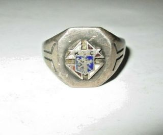 Vintage Knights Of Columbus Ring K Of C Collectible