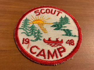 Bsa,  1948 Scout Camp Patch,  National Issue Generic?