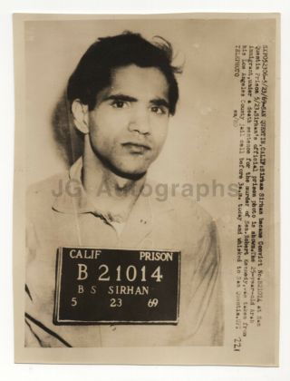Sirhan Sirhan - Assassinated Robert F.  Kennedy - Vintage Press Photograph