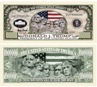 Pack Of 150 - Donald Trump 2020 Re - Election Presidential Dollar Mount Rushmore