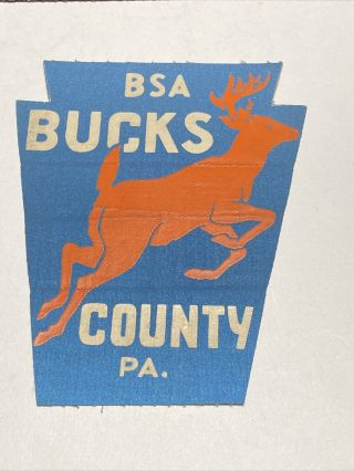 Vintage Bsa Bucks County Pa Patch 5 3/4 Inches Long