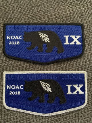 Oa Lenapehoking Lodge Ix Noac 2018 Flap Set.