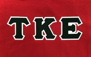 Tke Tau Kappa Epsilon Size Large Hoodie Sweatshirt Heavyweight Cotton Blend