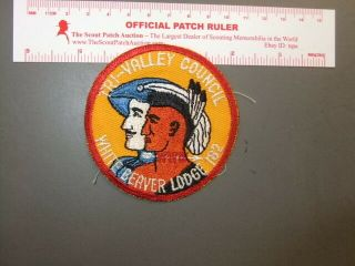 Boy Scout Oa White Beaver Lodge 182 Early Round 3492aa