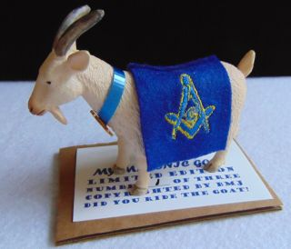 "Masonic Miniature ""my Masonic Goat""limited Edition No.  1"