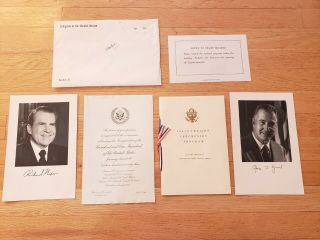 Official 1973 Congressional Invite - President Richard Nixon 2nd Inaugural