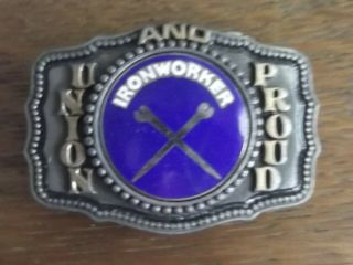 Ironworker Belt Buckle Union And Proud Nos