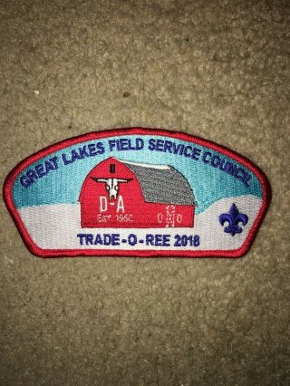 Boy Scout Bsa 2018 Camp D - A Red Tor Great Lakes Michigan Council Strip Csp Patch