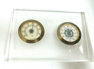 Omega Psi Phi Fraternity (ΩΨΦ) Thermometer Clock Glass Map Desk Display By Briar