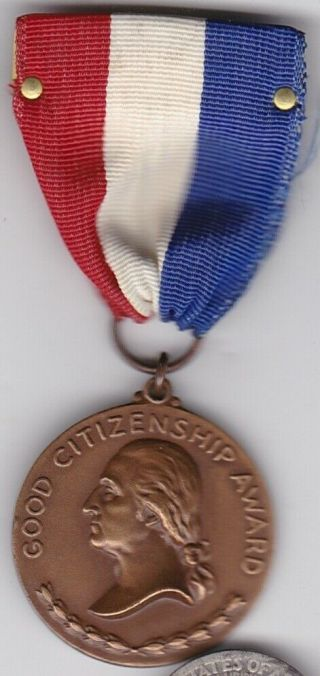 George Washington Daughters American Revolution Society Order Medal 1938 Named
