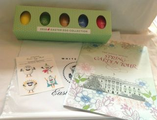 2018 Trump Easter Egg Set Of 5 Eggs W/box,  Booklet 4 Items