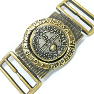 Indonesian Scout Belt / Scout Buckle Of Indonesia,