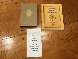 3 Books Ritual Of The Order Of The Eastern Star Instructions And Bylaws Wv.  Vtg