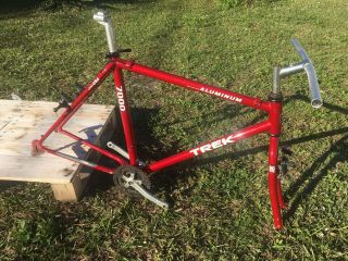 "Vintage 1991 Trek 7000 18 "" Aluminum Mountain Bike Frame,  Big Fork,  Bb,  More"