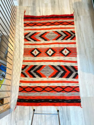 Authentic Navajo Transitional Blanket C.  1890 With Appraisal Report